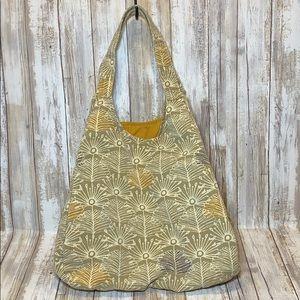 Market Tote Bag Boho Hobo Cotton Dandelion Print